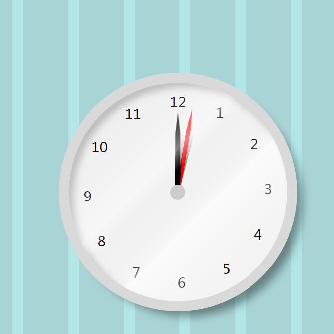 CSS3的带阴影效果圆形时钟倒计时代码