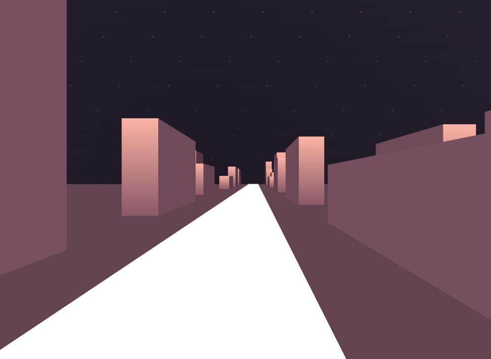 CSS3的模擬3D效果城市夜間行走動畫特效