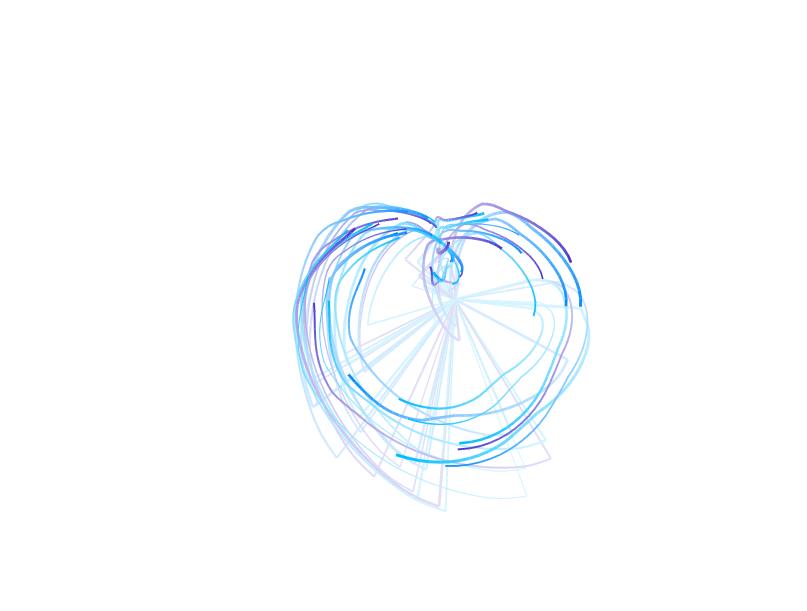 html5心形动画跟随鼠标光标运动特效