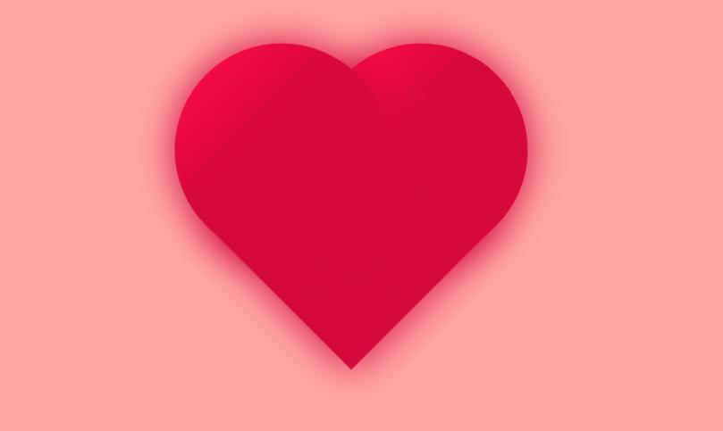 CSS3红色爱心跳动动画代码