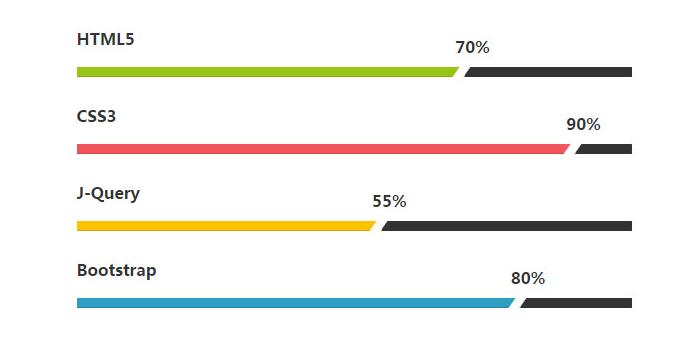 jQuery的漂亮的百分比进度条动画代码