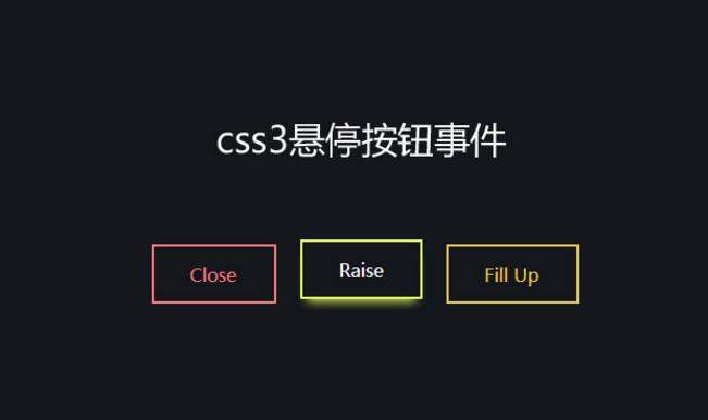 H5+css3 box-shadow鼠标悬停按钮动画特效