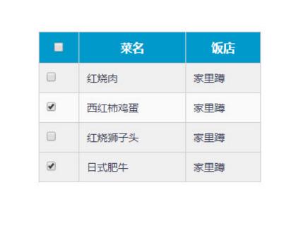 原生JS表格列表全選反選單選多選代碼