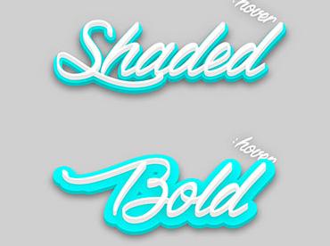 CSS3 SVG 3D立体阴影文字动画特效