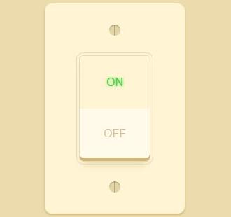 CSS3立体感灯光开关按钮动画特效