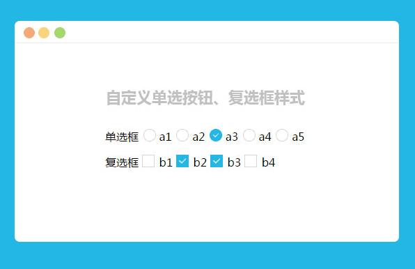 jQuery的自定义单选按钮复选框样式特效