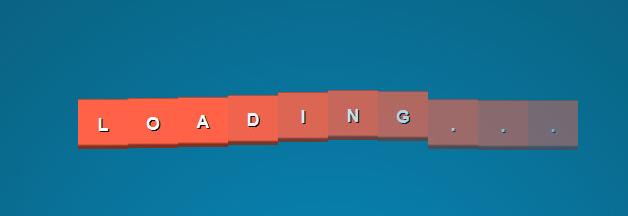 CSS3方块波浪形Loading动画特效