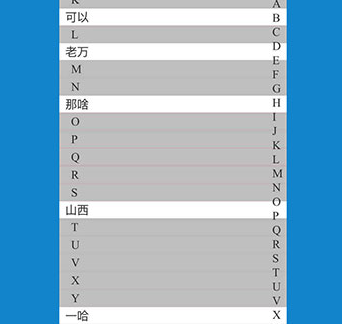 jQuery仿手機通訊錄首字母查找聯系人代碼