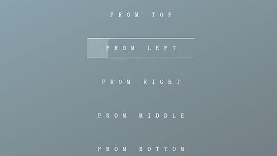CSS3鼠标悬停文字边框背景动画特效