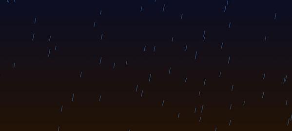 HTML5 Canvas模拟下雨动画场景