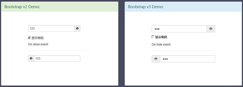 Bootstrap實現用戶輸入密碼顯示隱藏代碼