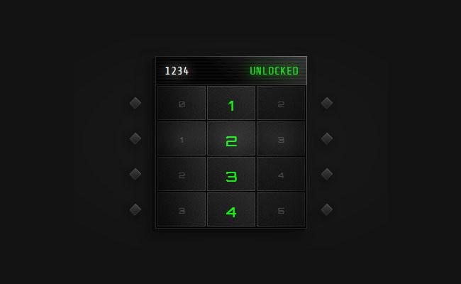 HTML5-手機滑動密碼解鎖代碼