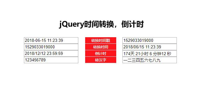 jQuery-时间戳转换倒计时代码