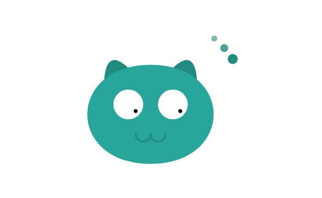 HTML5-猫头像加载中动画特效