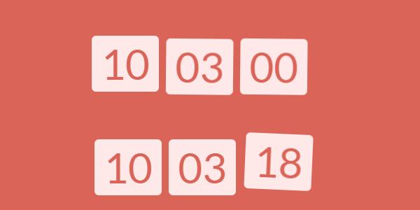 js-实时时钟带晃动动画j特效效果