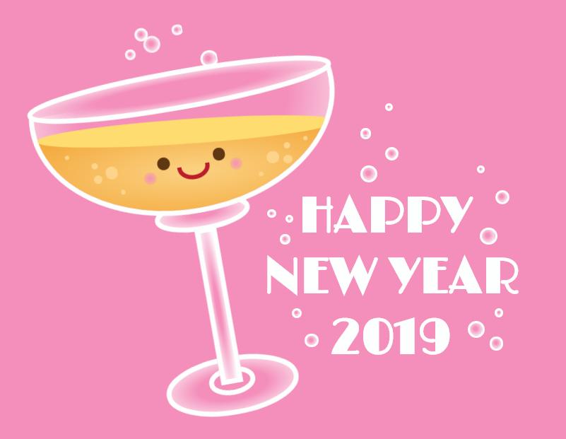 纯CSS实现新年快乐卡通酒杯特效动画