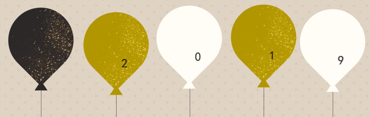 庆祝新年多彩气球上升CSS特效动画