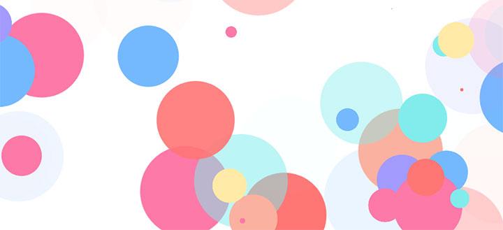 js+css3彩色圆点冒泡背景动画特效