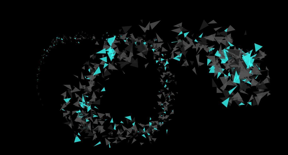 html5三角形碎片动画特效