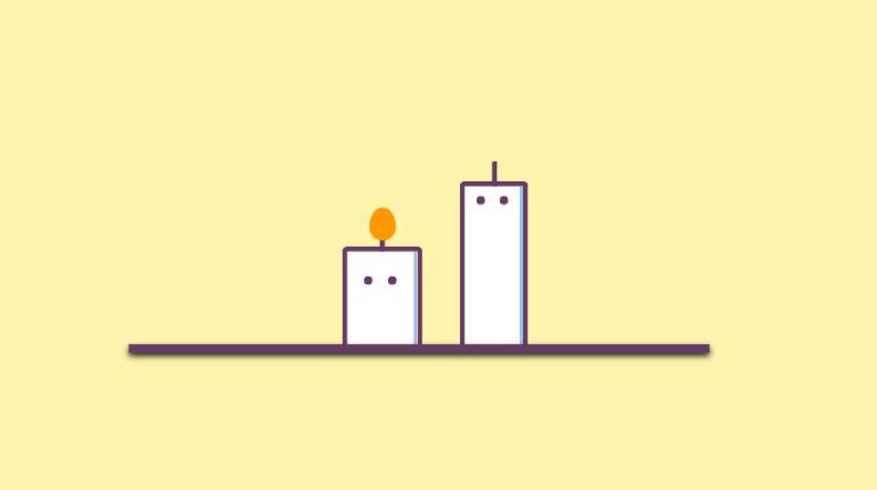 纯css3卡通蜡烛动画特效