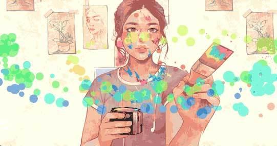 jQuery+css3人物繪畫涂鴉交互動畫特效