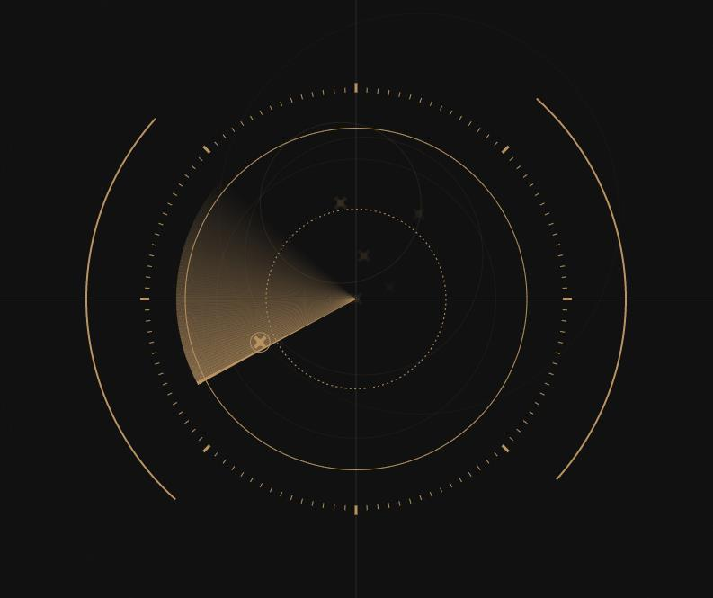 canvas雷达扫描模拟动画特效