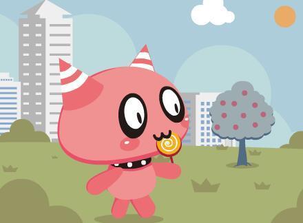 卡通六一儿童节flash动画场景
