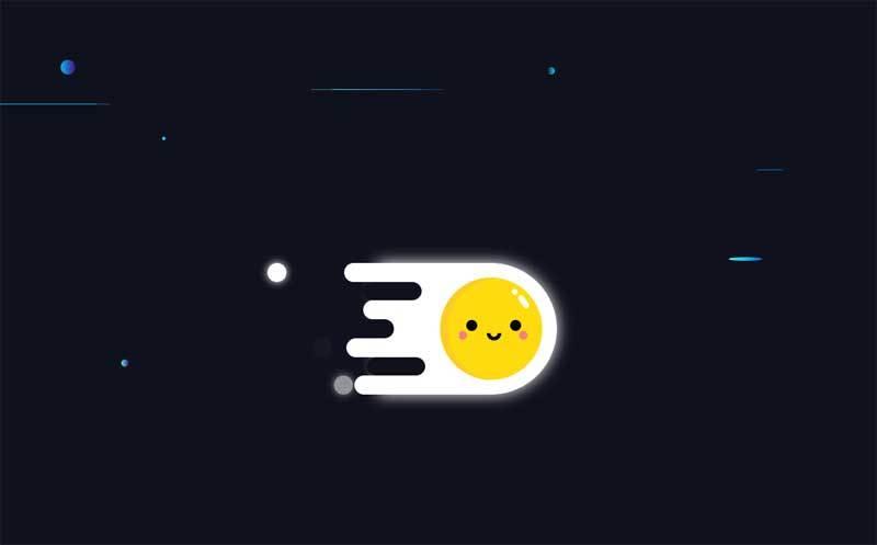 卡通的荷包蛋飞行动画特效