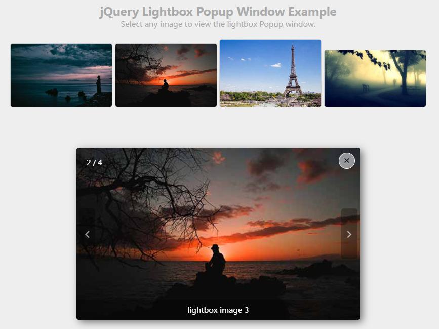 jQuery带炫酷轮播图效果的Lightbox弹出层插件