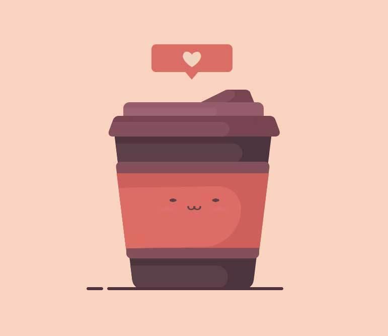 css3爱心咖啡杯动画
