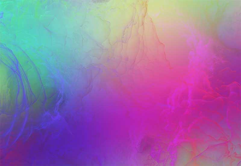 酷炫的七彩云霞webgl液態動畫
