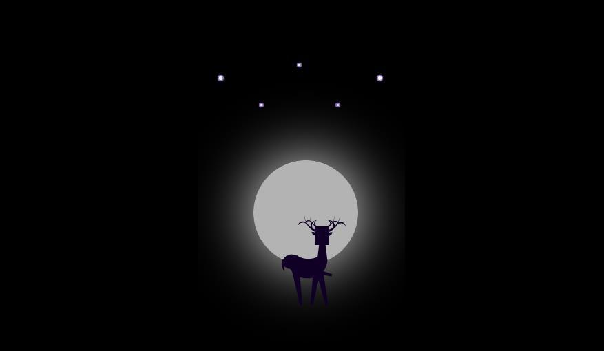 圣诞节月亮星星元素动画