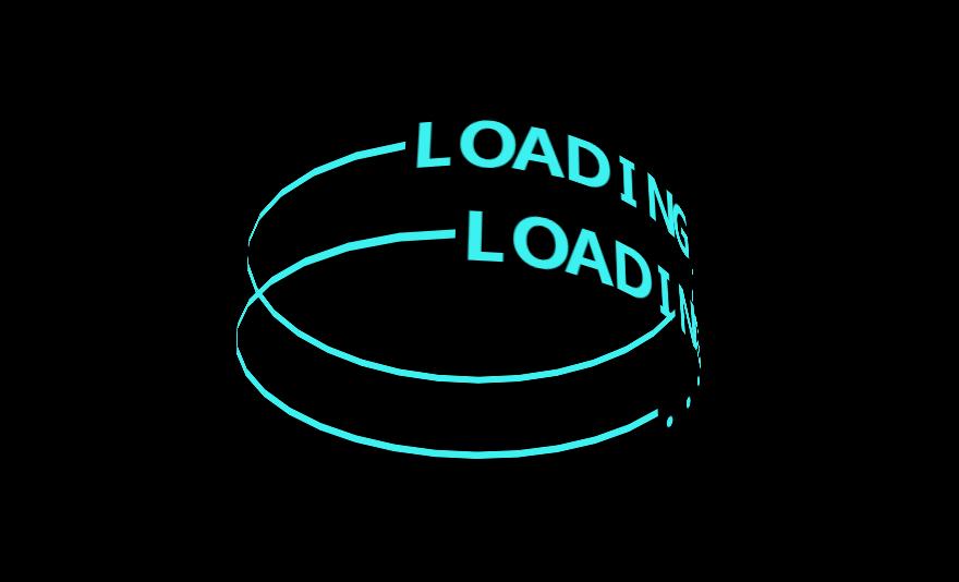 环形文字loading动画特效