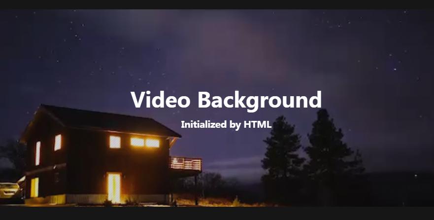 jQuery背景视频插件Vidbg.js