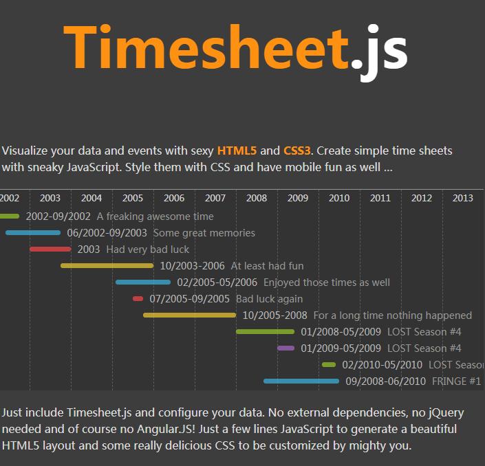 时间表(考勤表)插件imesheet.js