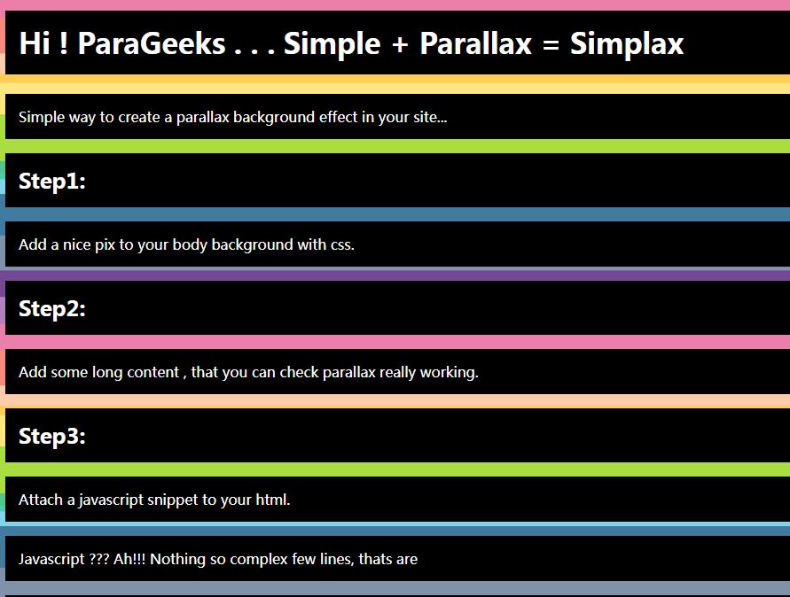 背景视差插件Simplax