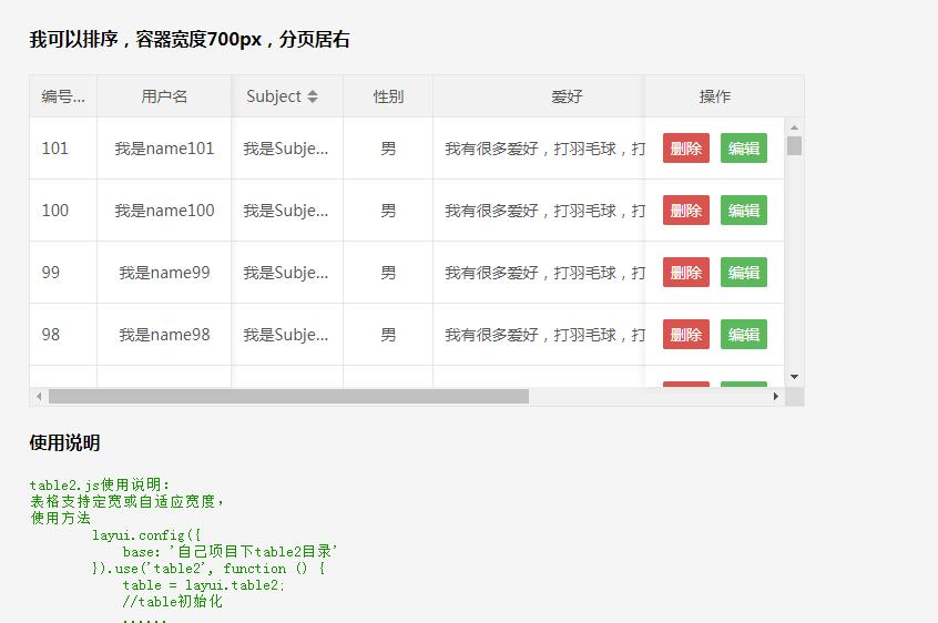jQuery前端table插件鎖定表頭和鎖定首列