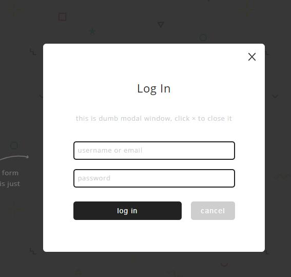 jQuery html5爆裂式登录效果