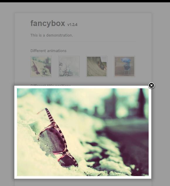图片播放弹出插件Fancybox
