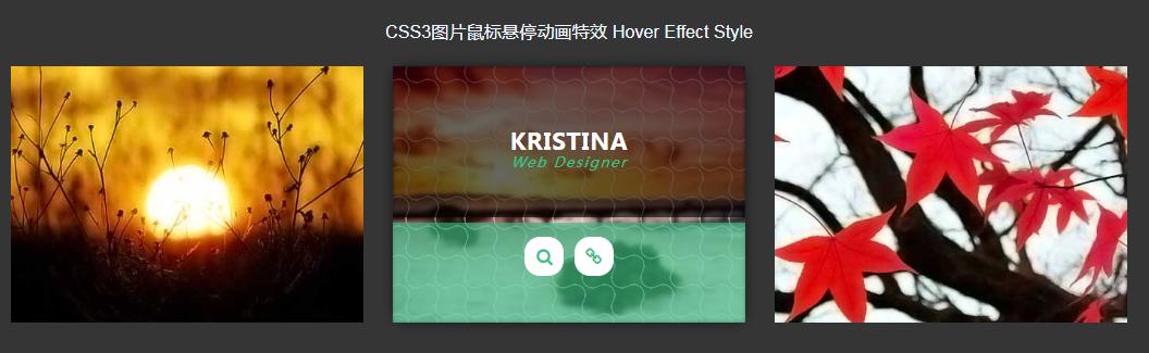 CSS3圖片鼠標懸停動畫
