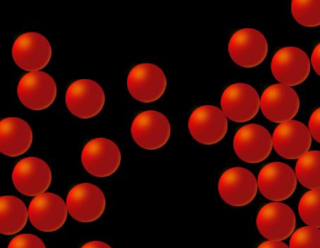 HTML5碰撞小球效果