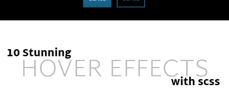 20种带配合场景的CSS3鼠标滑过文字动画特效