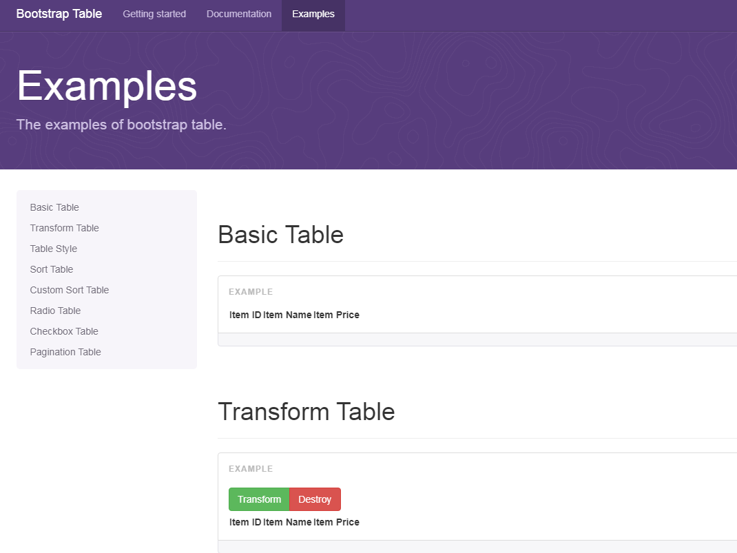 表格插件Bootstrap Table