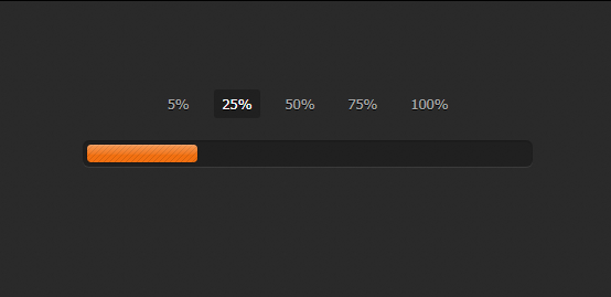 简单的百分比进度条