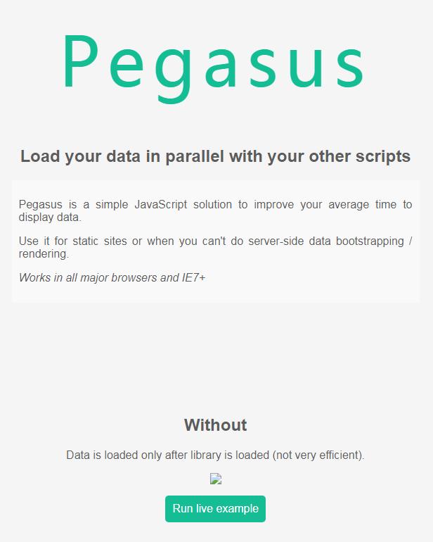 让Javascript加载更快的Pegasus