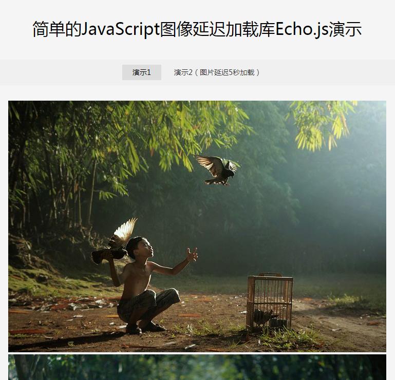 JavaScript图像延迟加载库Echo.js?3.1.71