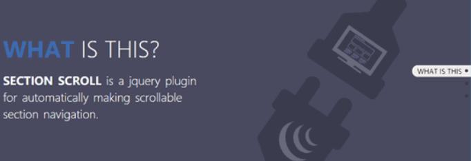 自动生成垂直整页滚动导航的jQuery插件section-scroll.js