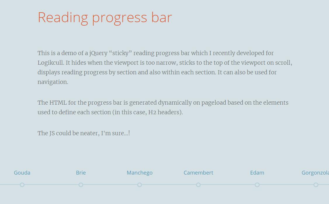Reading progress bar-预览进度条插件