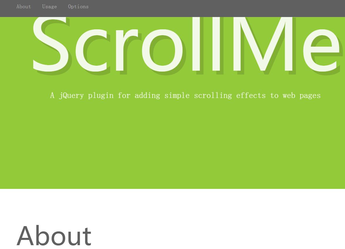 滚动效果插件ScrollMe