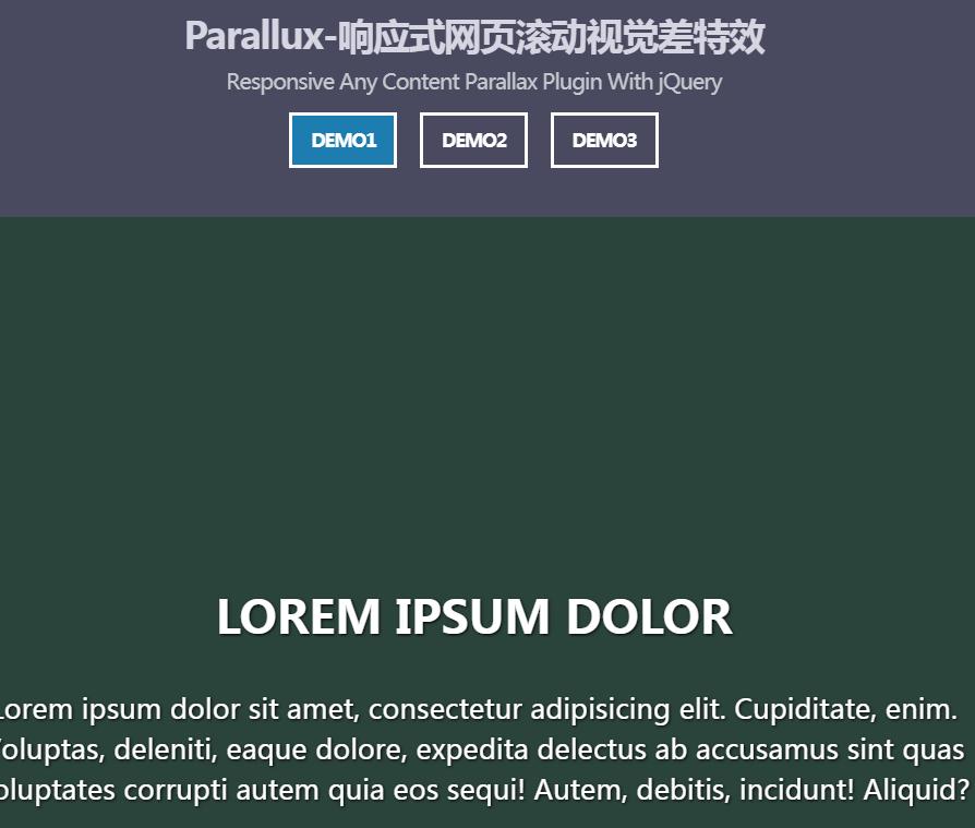 Parallux响应式网页滚动视觉差特效jQuery插件